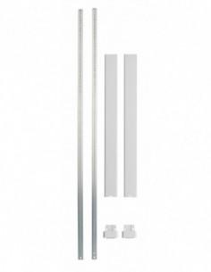 Kit tringle plate blanc pour hauteur porte 3,00 m