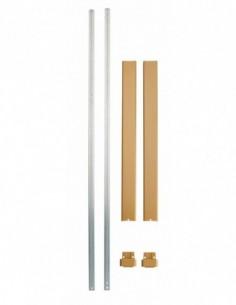 Kit tringle plate bronze pour hauteur porte 3,00 m