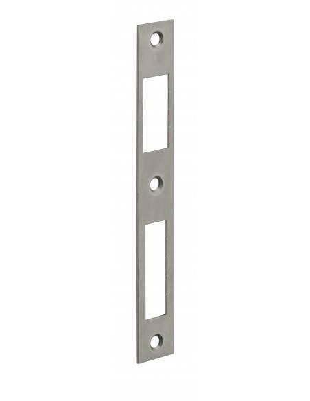 Gâche plate inox coffre réduit 160x22x1,5 mm