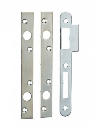 Jeu de gâches plates 20 mm bouts carrés (double pênes ronds Ø 10)