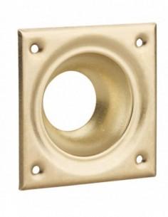 Entree à cuvette laiton 60 x 60 pour verrou de sureté cylindre Ø 23 mm