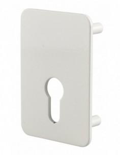 Plaque de renfort porte isoplane type capital à cylindre profilé, époxy blanc