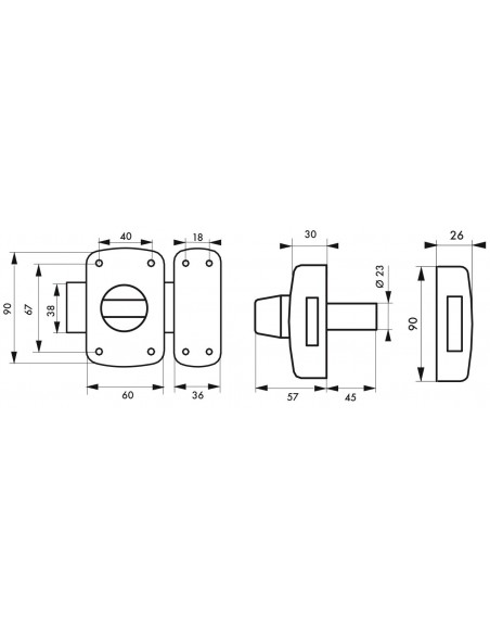 Mirage à cylindre double 45 mm