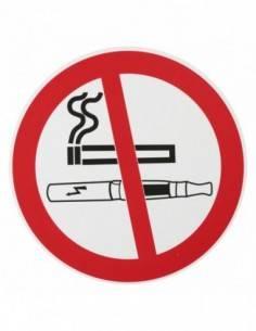 """Plaque signalétique Ø 180mm interdiction de fumer"""" avec adhésif"""""""