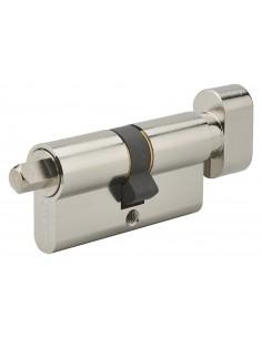 Cylindre profilé bouton + carré exterieur 7mm 30x30 nickele