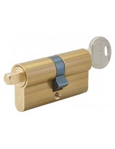 Cylindre profilé clé + carré exterieur 7mm 30x30 laiton