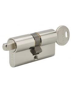 Cylindre profilé clé + carré exterieur 7mm 30x30 nickele