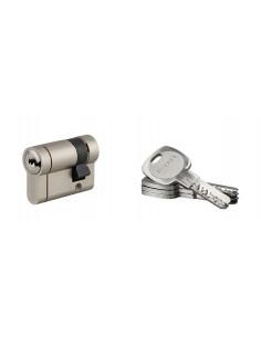 1/2 cylindre TRANSIT 1 30 x10 mm nickelé panneton orientable