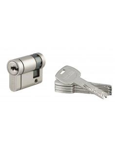 1/2 cylindre 30 x10 mm nickelé panneton orientable 5 clés