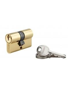 Cylindre 21 x 21 mm laitonné 3 clés