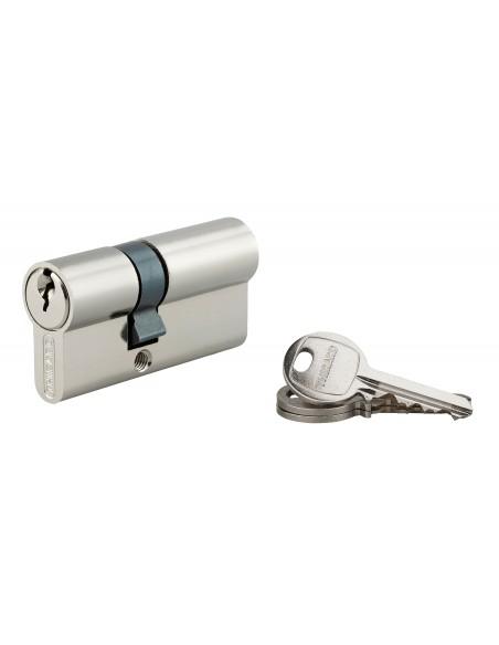 Cylindre 25 x 40 mm nickelé 3 clés