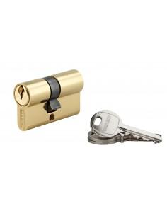 Cylindre 27 x 27 mm laitonné 3 clés