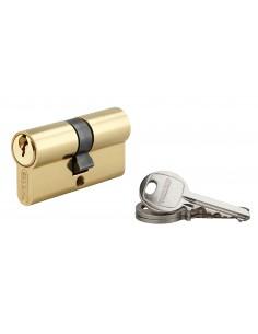 Cylindre 30 x 30 mm 3 clés avec vis de 50 mm laitonné