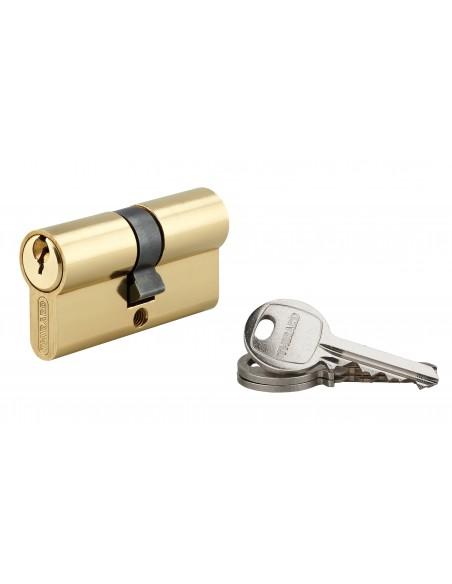 Cylindre 30 x 30 mm laitonné 3 clés