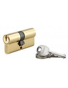 Cylindre 30 x 35 mm 3 clés avec vis de 50 mm laitonné