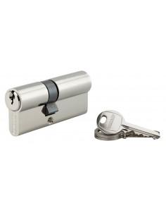 Cylindre 30 x 40 mm 3 clés avec vis de 45 mm nickelé
