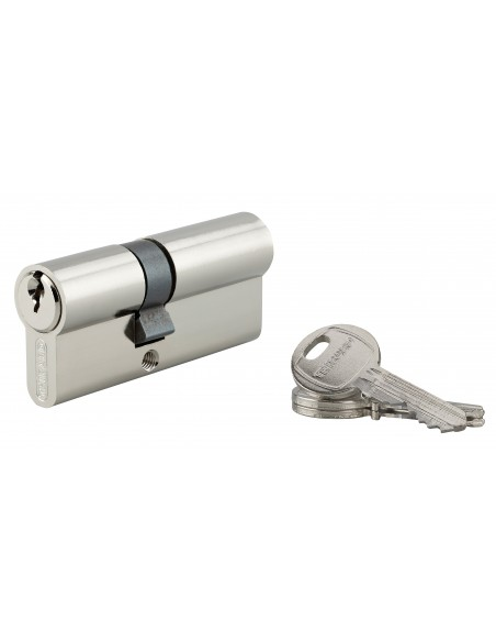 Cylindre 30 x 40 mm 3 clés nickelé