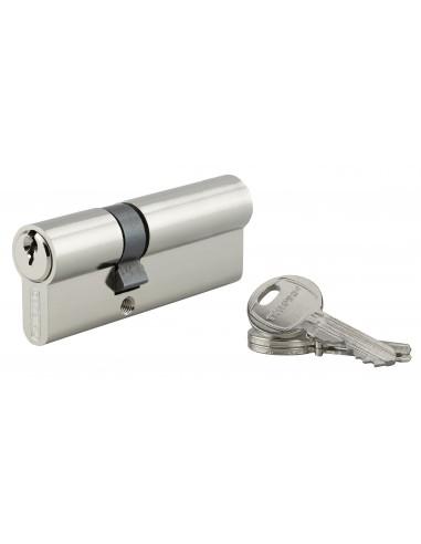Cylindre 30 x 45 mm 3 clés nickelé