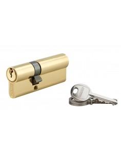 Cylindre 30 x 50 mm 3 clés avec vis de 50 mm laitonné
