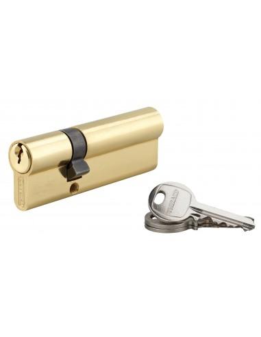 Cylindre 30 x 60 mm laitonné 3 clés