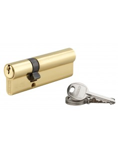 Cylindre 30 x 65 mm laitonné 3 clés