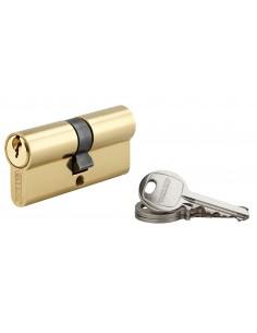 Cylindre 35 x 35 mm 3 clés avec vis de 50 mm laitonné