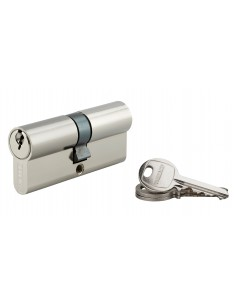 Cylindre 35 x 35 mm nickelé 3 clés