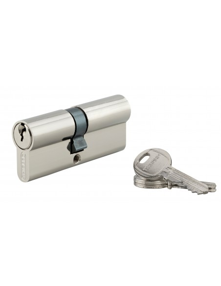 Cylindre 35 x 40 mm 3 clés nickelé