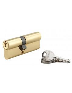 Cylindre 35 x 45 mm 3 clés avec vis de 50 mm laitonné