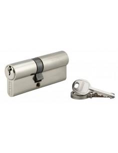 Cylindre 35 x 45 mm 3 clés avec vis de 50 mm nickelé