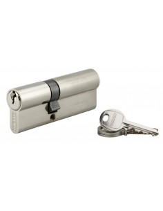 Cylindre 35 x 50 mm 3 clés avec vis de 45 mm nickelé