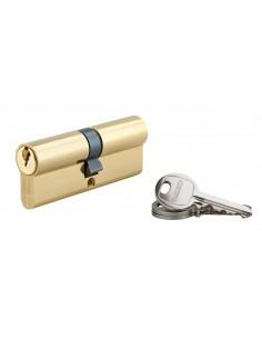 Cylindre 40 x 40 mm 3 clés avec vis de 50 mm laitonné