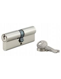 Cylindre 40 x 40 mm 3 clés nickelé