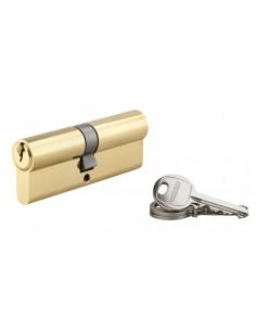 Cylindre 40 x 45 mm 3 clés avec vis de 50 mm laitonné