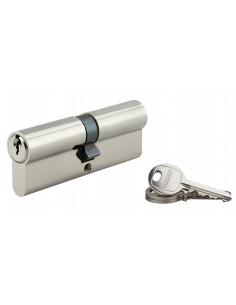 Cylindre 45 x 45 mm 3 clés avec vis de 50 mm nickelé