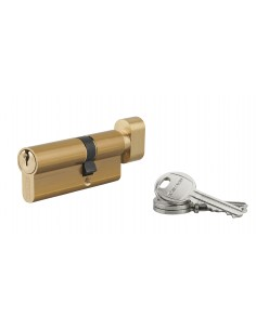 Cylindre à bouton 30 x 45 mm 3 clés laiton