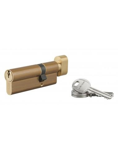 Cylindre à bouton 30 x 55 mm 3 clés laiton
