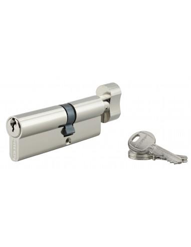 Cylindre à bouton 30 x 55 mm 3 clés nickelé