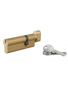 Cylindre à bouton 30 x 60 mm 3 clés laiton