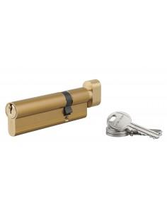 Cylindre à bouton 30 x 70 mm 3 clés laiton