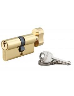 Cylindre à bouton 35 x 30 mm laitonné 3 clés