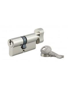 Cylindre à bouton 35 x 35 mm 3 clés nickelé