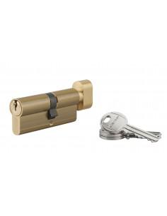 Cylindre à bouton 35 x 40 mm 3 clés laiton