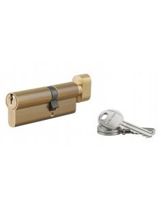 Cylindre à bouton 35 x 50 mm 3 clés laiton