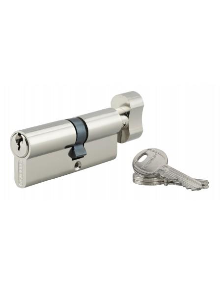 Cylindre à bouton 35 x 50 mm 3 clés nickelé