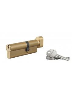 Cylindre à bouton 35 x 55 mm 3 clés laiton