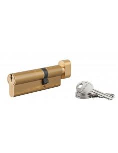 Cylindre à bouton 35 x 60 mm 3 clés laiton