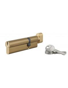 Cylindre à bouton 35 x 70 mm 3 clés laiton