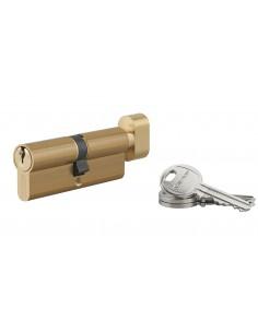 Cylindre à bouton 40 x 40 mm 3 clés laiton