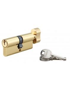 Cylindre à bouton 40 x 40 mm laitonné 3 clés